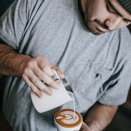 Barista making a coffee